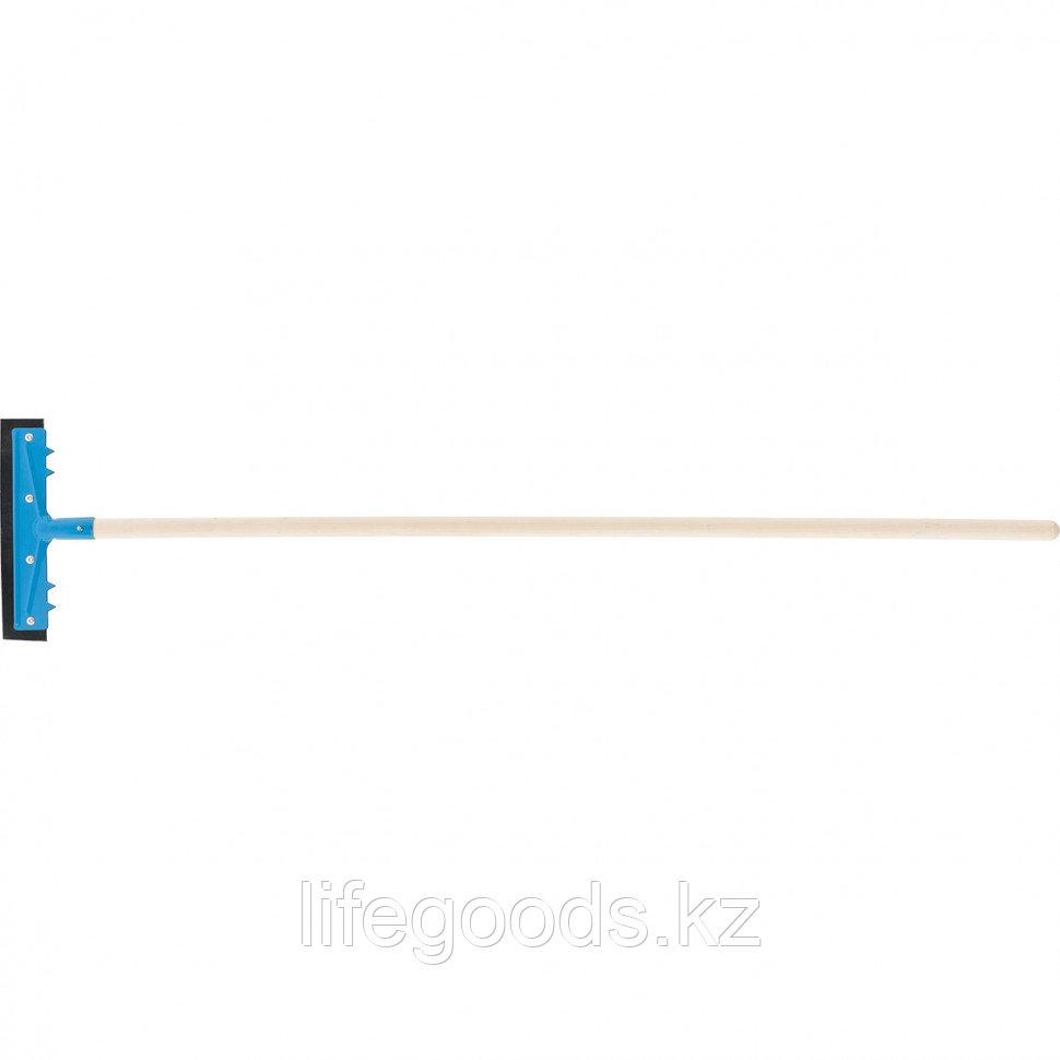 Водосгон 260 мм для пола, деревянный черенок Россия. Сибртеx 61605