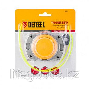 Головка триммерная универсальная алюминий, шайба 8 мм, 10 мм Denzel 96363, фото 2