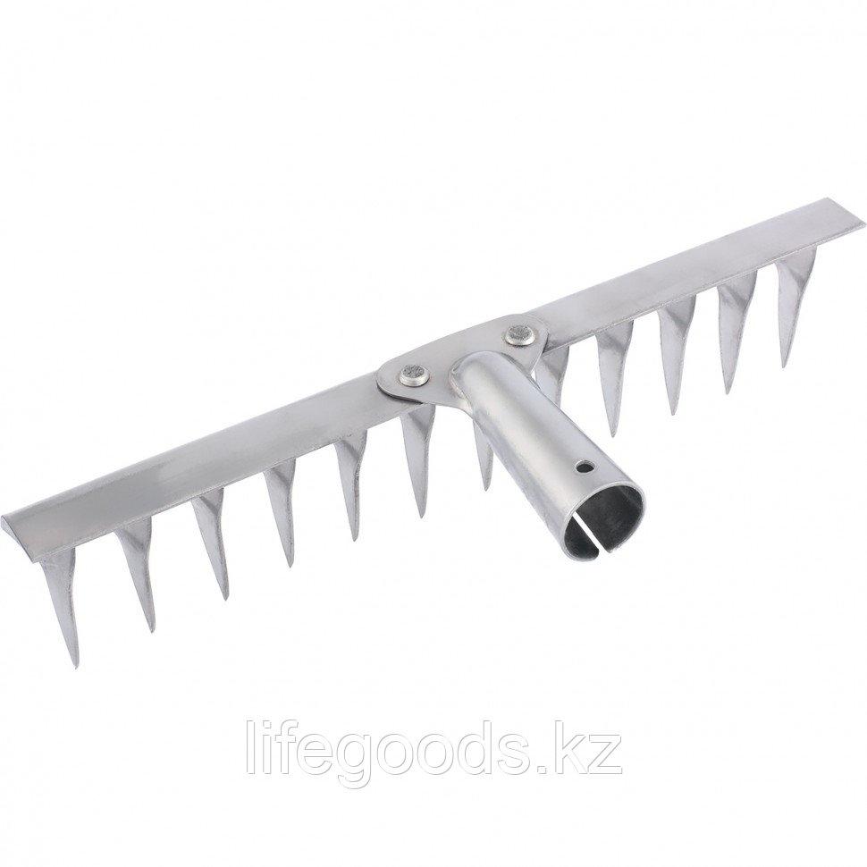 Грабли 12-зубые витые, 290 мм, нержавеющая сталь, без черенка Россия Сибртех 61753