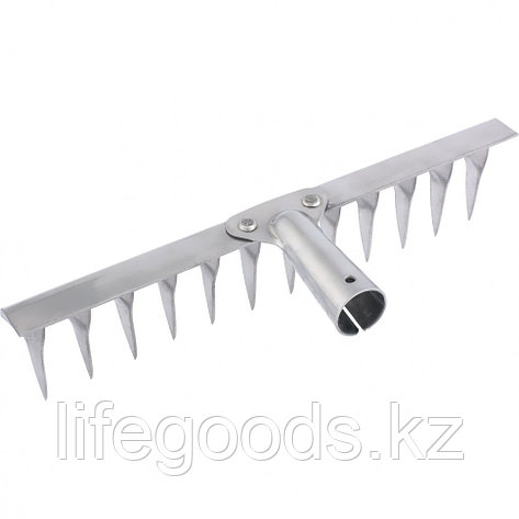 Грабли 12-зубые витые, 290 мм, нержавеющая сталь, без черенка Россия Сибртех 61753, фото 2