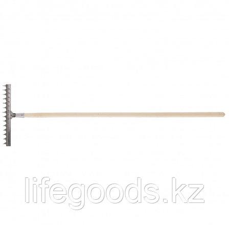 Грабли 12-зубые витые, 290 мм, нержавеющая сталь, черенок в/с Россия Сибртех 61754, фото 2