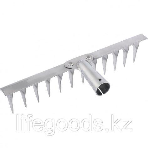Грабли 14-зубые витые, 340 мм, нержавеющая сталь, без черенка Россия Сибртех 61759, фото 2