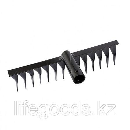Грабли 14-зубые, 300 мм, без черенка, витые Россия Сибртех 61765, фото 2