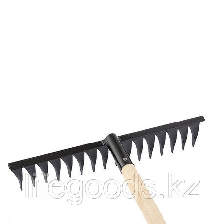 Грабли 16-зубые, 420 мм, с черенком, витые Россия Сибртех 61763, фото 2