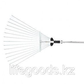 Грабли веерные 15-зубые, металлический черенок 1130 мм, раздвижные Palisad 61756, фото 2