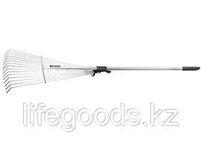 Грабли веерные 15-зубые, металлический черенок 1130 мм, раздвижные Palisad 61756, фото 3