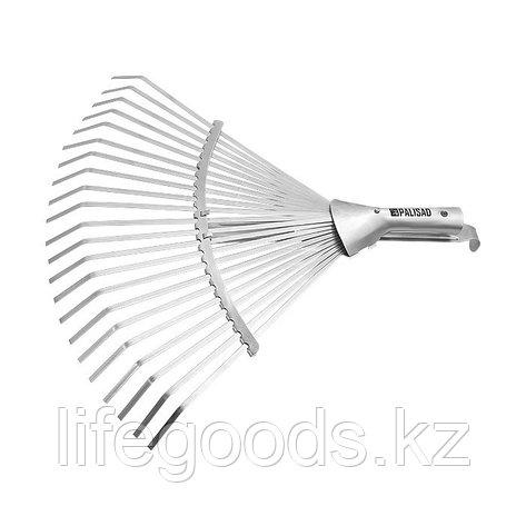 Грабли веерные 22 зуба, без черенка, раздвижные, 270-460 мм Palisad 61767, фото 2