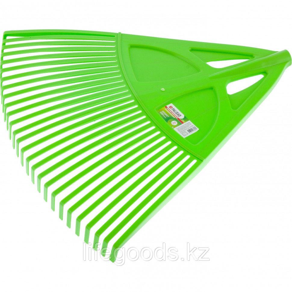 Грабли веерные пластиковые, 27 зубьев, зеленые Palisad 61709