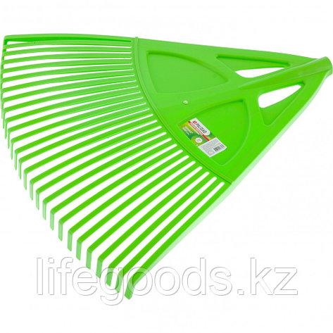 Грабли веерные пластиковые, 27 зубьев, зеленые Palisad 61709, фото 2