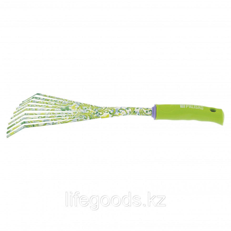 Грабли веерные, круглый зуб, пластиковая рукоятка Palisad 62042