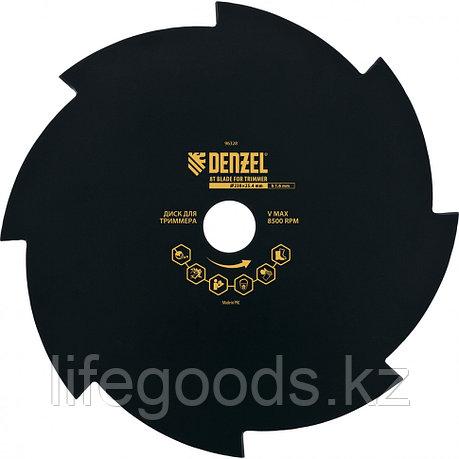 Диск для триммера, 230 х 25,4 мм, Толщинa 1,6 мм, 8 лезвий Denzel 96328, фото 2