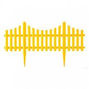 "Забор декоративный ""Гибкий"", 24 x 300 см желтый Palisad 65016"