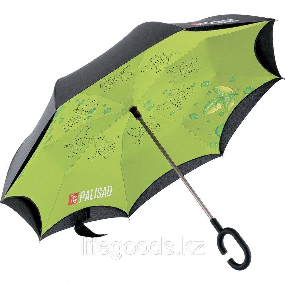 Зонт-трость обратного сложения, эргономичная рукоятка с покрытием Soft ToucH Palisad 69700