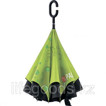 Зонт-трость обратного сложения, эргономичная рукоятка с покрытием Soft ToucH Palisad 69700, фото 2