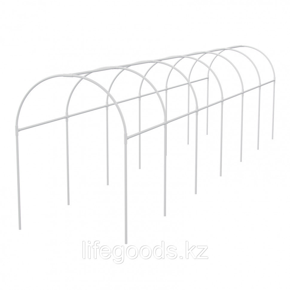 Каркас парника пластиковый 500 х 110 х 120 см, дуга D 20 мм, белый Palisad 63902