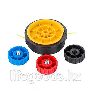 Катушка триммерная полуавтомат, шестигранник HEX х 15/6, болт М6 правый, М8 правый, М8 левый Denzel 96365, фото 2