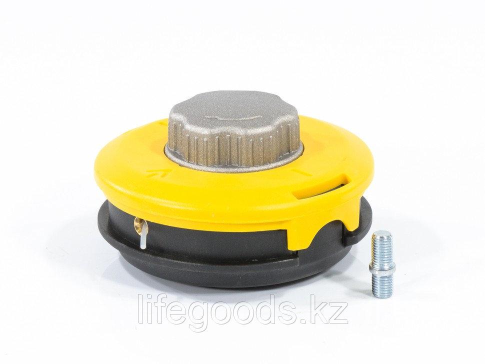 Катушка триммерная полуавтоматическая, легкая заправка лески, гайка M10x1,25, винт M10-M10, алюминиевая кнопка - фото 1