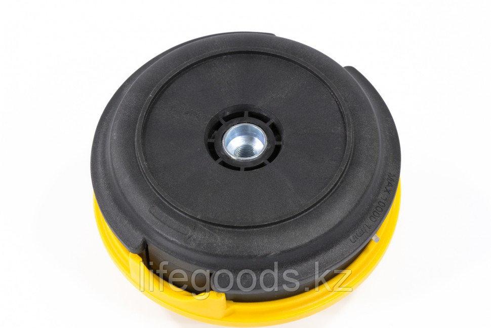 Катушка триммерная полуавтоматическая, легкая заправка лески, гайка M10x1,25, винт M10-M10, алюминиевая кнопка - фото 3