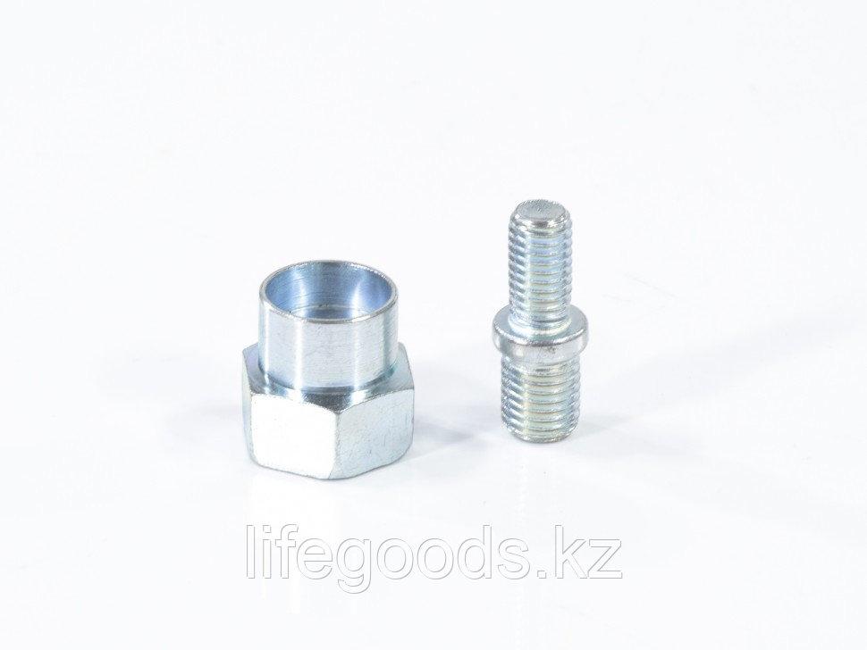 Катушка универсальная триммерная, гайка М10 х 1,25, гайка М8, винт М8-М10, левая резьба, шаг 1,25 мм Denzel - фото 5
