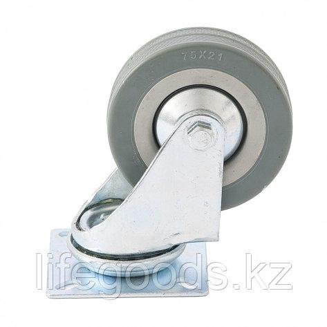 Колесо поворотное D 100 мм, крепление  платформенное Сибртех 68715, фото 2