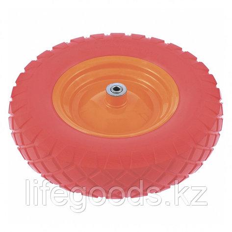 Колесо полиуретановое 4.80/4-8, Длинa оси 90 мм, подшипник 20 мм Palisad 68977, фото 2