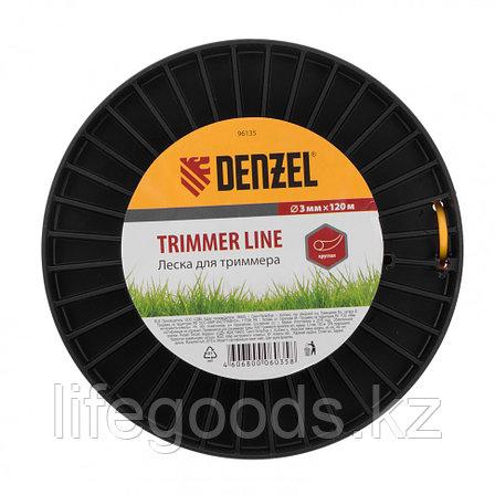 Леска для триммера круглая  3,0 мм, 120 м, на Din катушке Россия Denzel 96135, фото 2