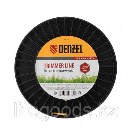 Леска для триммера звезда  2,4 мм, 160 м, на Din катушке Россия Denzel 96131, фото 2