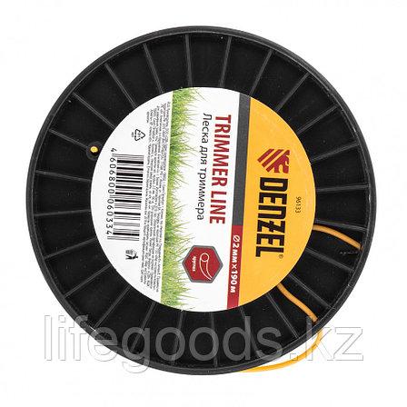 Леска для триммера круглая  2,0 мм, 190 м, на Din катушке Россия Denzel 96133, фото 2
