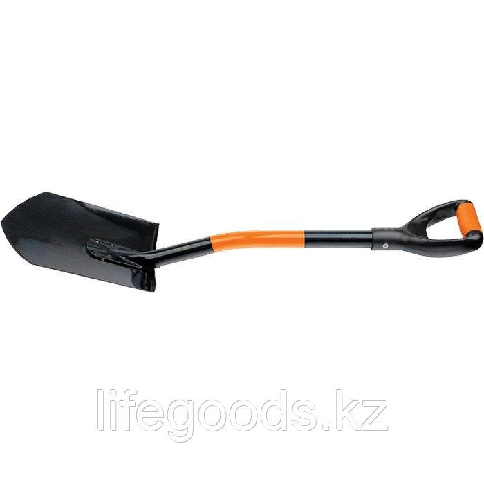 Лопата автомобильная, 840 мм, металлический черенок, заостренная Stels 61401