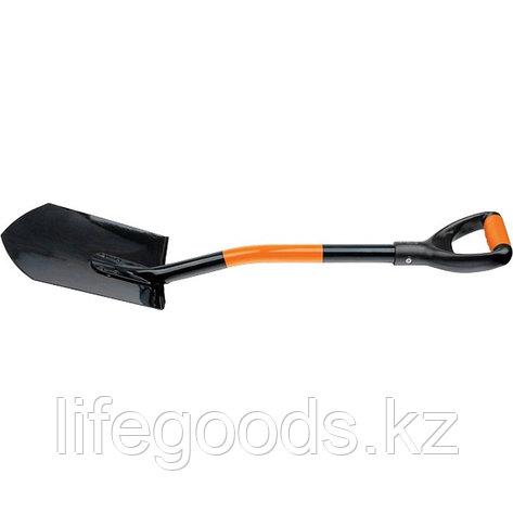 Лопата автомобильная, 840 мм, металлический черенок, заостренная Stels 61401, фото 2