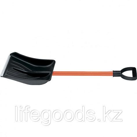 Лопата для уборки снега автомобильная с черенком 89 см Stels 61586, фото 2