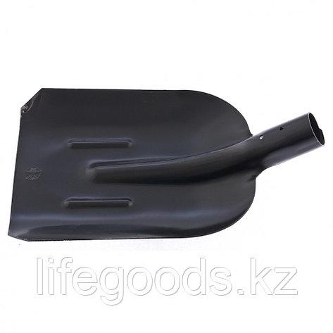 Лопата совковая с ребрами жесткости, упрочненная сталь Ст5, без черенка Россия Сибртех 61400, фото 2