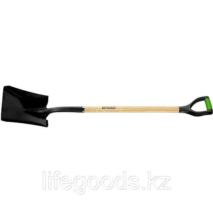 Лопата совковая, эргономичный черенок из вяза, двухкомпонентная рукоятка, общая Длинa 1250 мм Palisad 61448