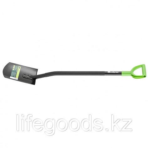 Лопата штыковая, металлический черенок, прямоугольная Россия Сибртех 61612, фото 2