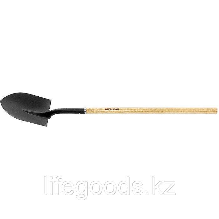 Лопата штыковая, эргономичный черенок из вяза, общая Длинa 1500 мм Palisad 61447