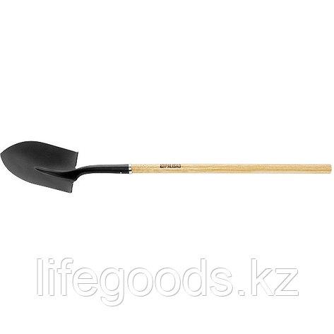 Лопата штыковая, эргономичный черенок из вяза, общая Длинa 1500 мм Palisad 61447, фото 2