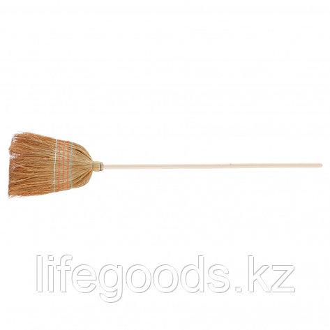 Метла натуральная, деревянный черенок Россия 93337, фото 2
