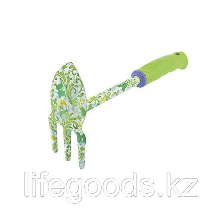 """Мотыжка комбинированная """"лепесток и 3 зуба"""", пластиковая рукоятка Palisad 62040, фото 2"""