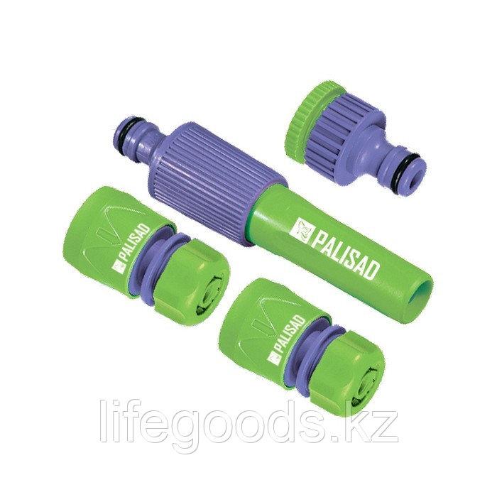Набор для подключения шланга 1/2, распылитель, 3 адаптера к распылителю Palisad 65176