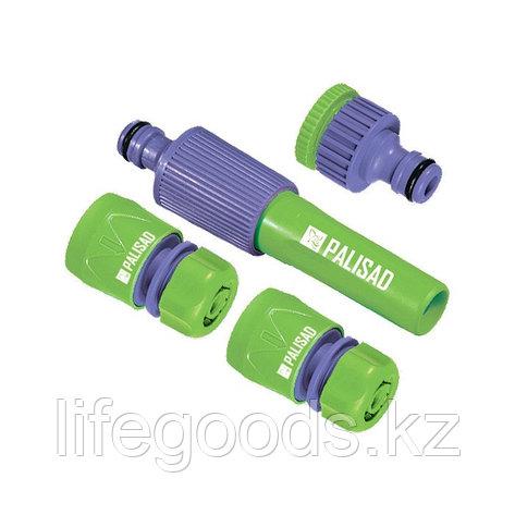 Набор для подключения шланга 1/2, распылитель, 3 адаптера к распылителю Palisad 65176, фото 2