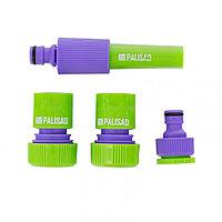Набор для подключения шланга 3/4, распылитель, 3 адаптера к распылителю Palisad 65179