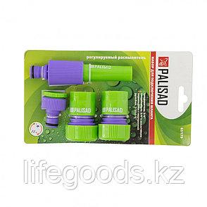 Набор для подключения шланга 3/4, распылитель, 3 адаптера к распылителю Palisad 65179, фото 2