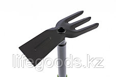 Набор садового инструмента: совок, грабли веерные, рыхлитель, грабли 5-зубые, мотыжка, комплект удленных ручек, фото 3