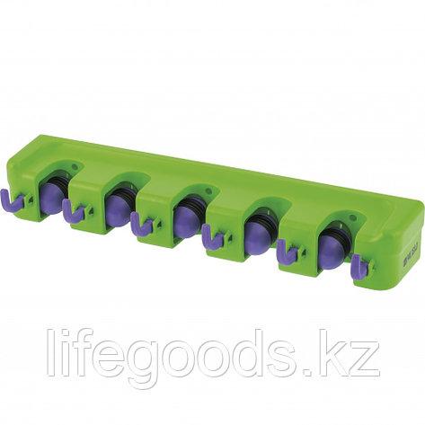 Настенный держатель для садового инструмента, 5 ячеек, 6 крюков Palisad 68300, фото 2
