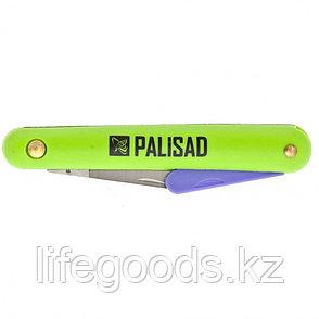 Нож садовый, 185 мм, складной, окулировочный, пластиковая рукоятка, пластик. расщепитель Palisad 79010, фото 2