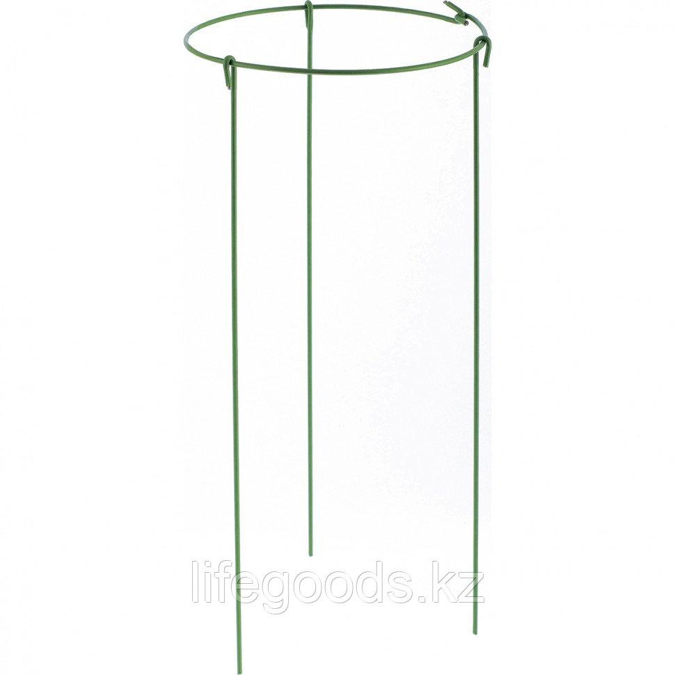 Опора для растений круглая, D 14 см. H 30 см, 5 шт, в упаковке, металл в пластике Palisad 644055