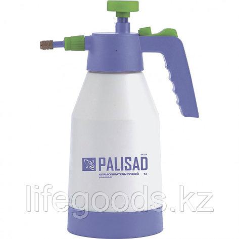 Опрыскиватель ручной, усиленный 1 л, с насосом, поворотный распылитель, клапан сброса давления Palisad 64733, фото 2