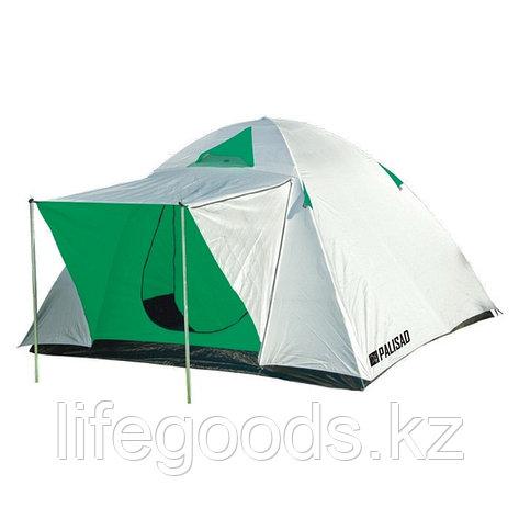 Палатка двухслойная трехместная 210 x 210 x 130 см, Camping Palisad 69522, фото 2