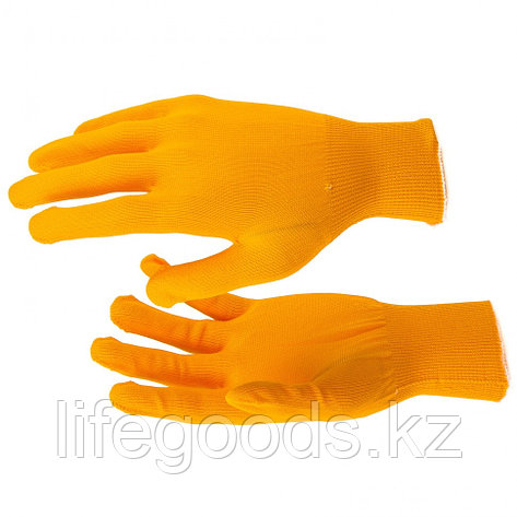 Перчатки Нейлон, 13 класс, оранжевые, XL Россия 67840, фото 2