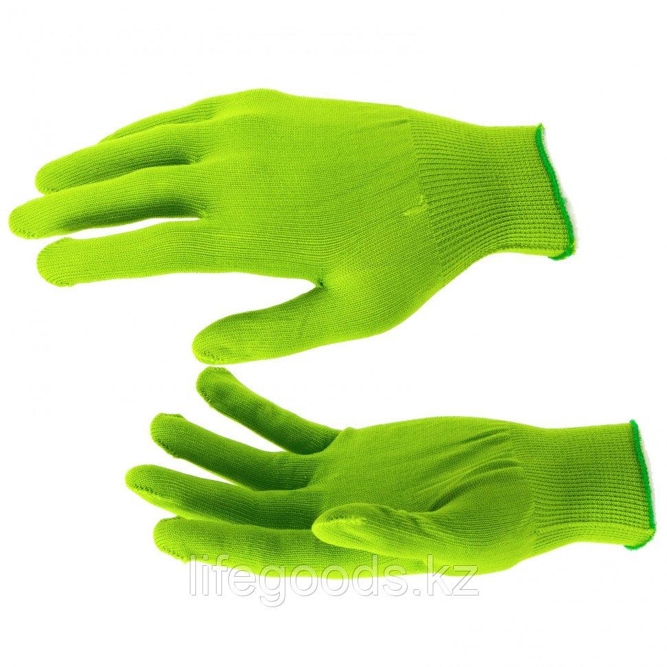 Перчатки Нейлон, 13 класс, цвет изумрудный, L Россия 67823